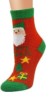 DEELIN Sale Christmas Socks Xmas Gift Womens Socks Unisex Casual Soft Breathable Warm Coral Velvet Santa Snowman Socks Men...