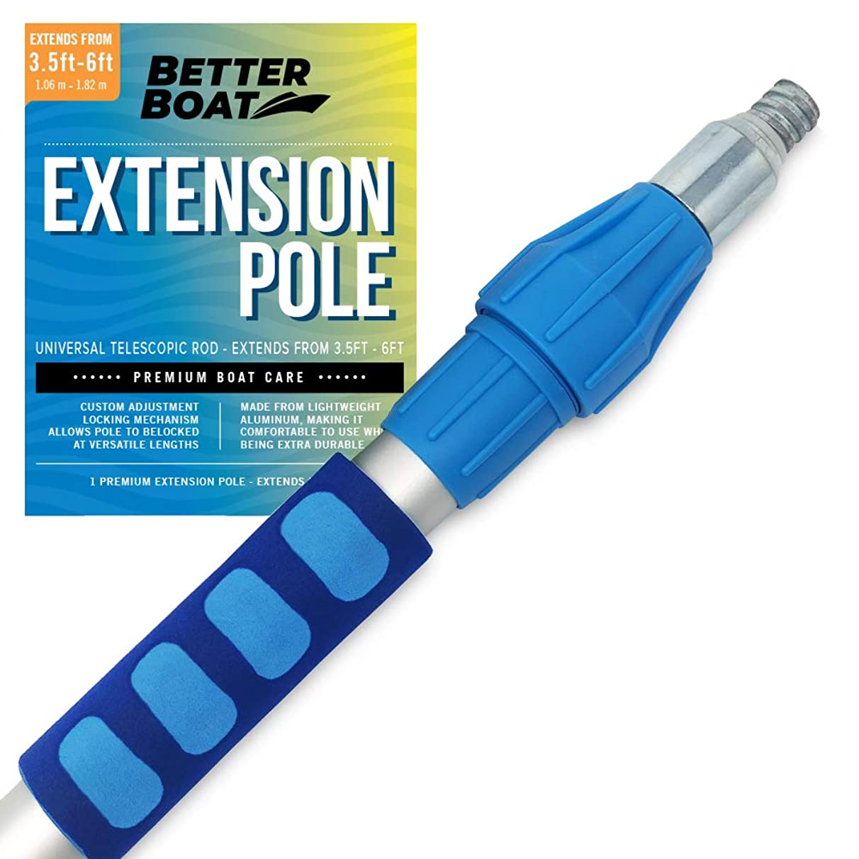 Better Boat Telescoping Pole Extendable Pole Deck Brush 3/4