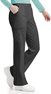 Urbane Women's Silky Soft Stretch & Comfortable 3-Pocket Cargo Scrub Pant, Graphite, Small Tall