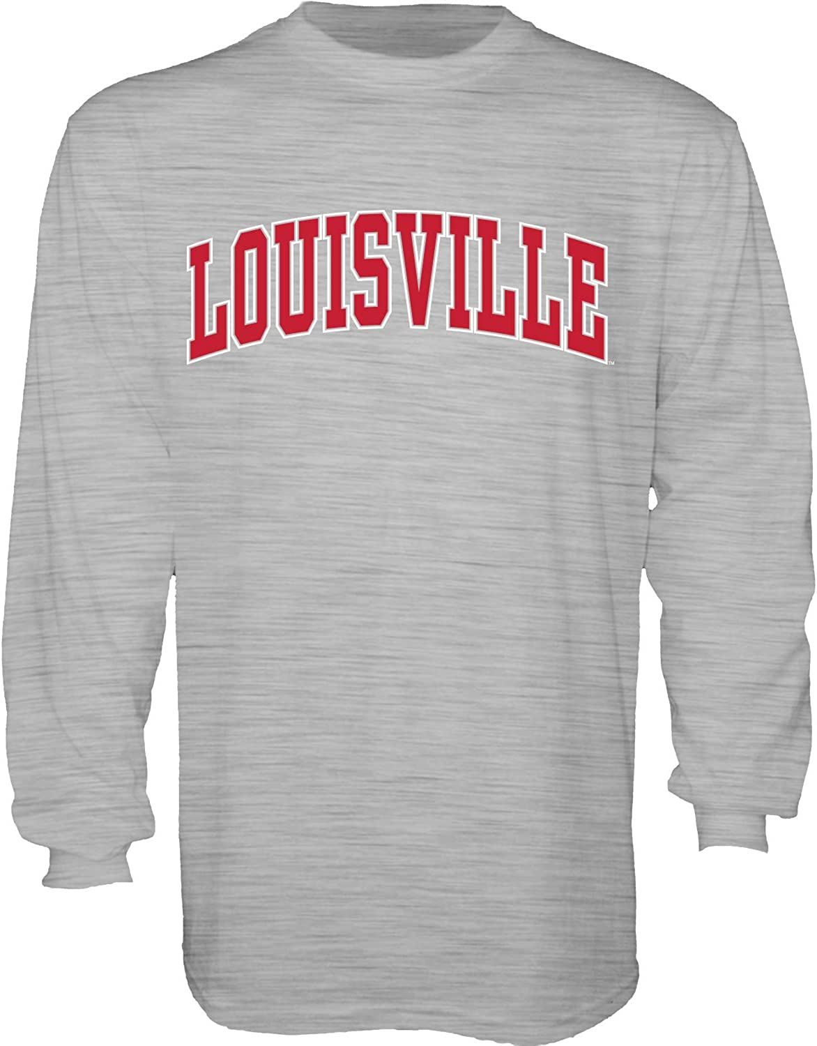 The Blue Brand NCAA Mens Long Sleeve T Shirt White Arching Over