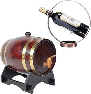 ZGQJT Distributeur de fûts de vin en Bois de chêne Vintage avec Support en Bois, for Le Stockage Vin & Spiritueux Fûts de ...