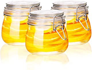 csd Bouteilles en verre scellées Bocal de stockage de confiture alimentaire avec boucle Transparent Café de grain de café ...