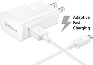 Samsung Galaxy Tab E 9.6 Adaptive Fast Charger Micro USB 2.0 Cable Kit! [1 Wall Charger + 5 FT Micro USB Cable] Adaptive Fast Charging uses Dual voltages for up to 50% Faster Charging! Bulk Packaging