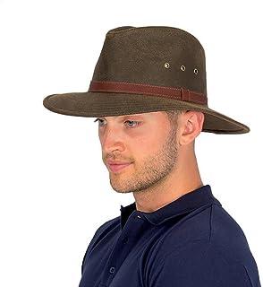 (サングローブ) Sunglobe UVカット 帽子(男性用) - メンズ ハット - キャンバス カウボーイ ハット ヴィンテージブラウン