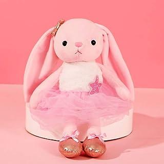 Ballerina Dolls Plush Bunny Rabbit Soft Toys Ballet Dance Recital Gifts for Girls Pink 15.5 Inches