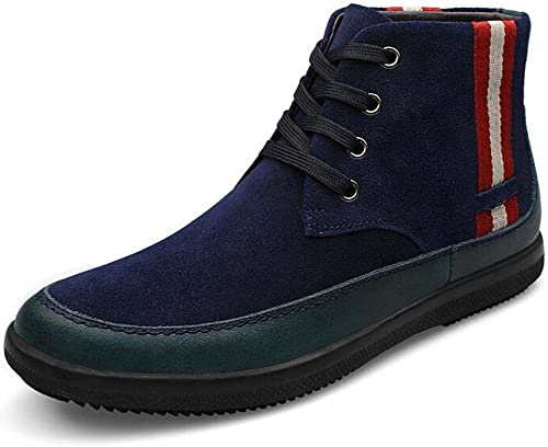 SAYYN Hommes Gommage Suede Cuir Cravate Hiver épaississeHommest Formateur Formateur Formateur Neutre Adulte Mode mixte paniers , bleu , 42 0e2