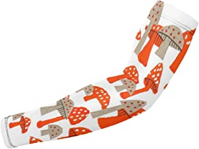 BJAMAJ Rode & Grijze Paddestoel Print UV Bescherming Koeling Arm Mouwen Arm Cover Zonbescherming Voor Mannen & Vrouwen Jeu...