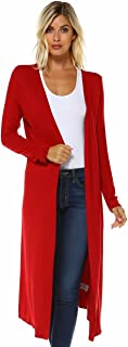 Isaac Liev Trendy Extra Long Duster Soft Cardigan