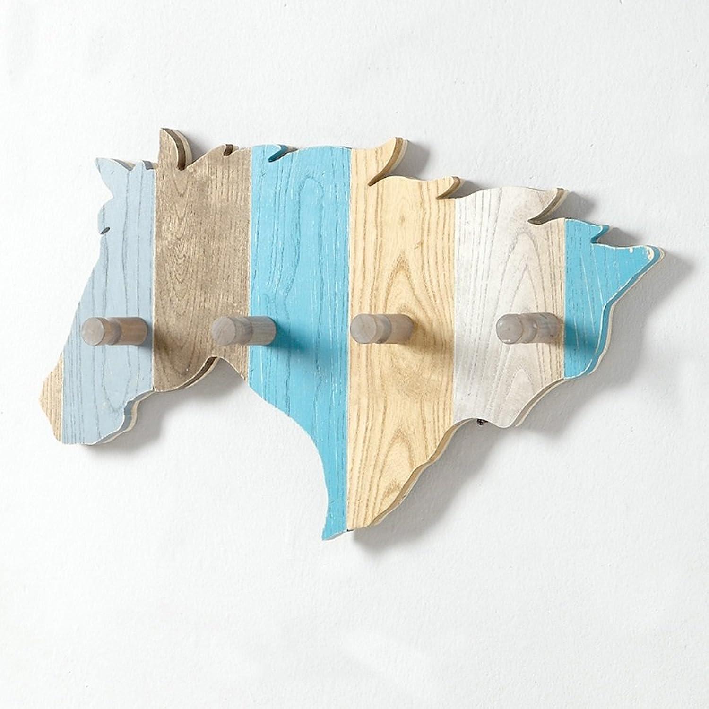 ZHIRONG Coat Rack Solid Wood color Wall Shelves Clothes Hook 61.35CM