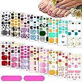 352 Pieces 16 Sheets Full Toe Nail...