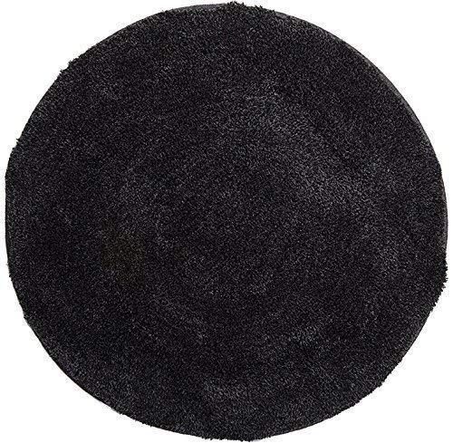 Grund badmat 32 mm 100% polyacryl, ultra zacht, antislip, ÖKO-TEX-gecertificeerd, 5 jaar garantie, LEX, badmat 100 cm rond, antraciet