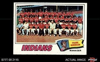 1977 Topps # 18 Indians Team Checklist Frank Robinson Cleveland Indians (Baseball Card) Dean's Cards 1.5 - FAIR Indians