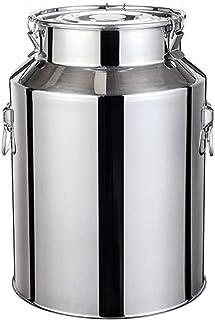 Le Lait en Acier Inoxydable Can, Lait Barrel Fermentation Lait Transportable Seau Réservoir Peut avec Couvercle étanche (T...