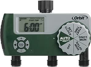 Orbit 56082 Programmable Hose Faucet Timer, 3 Outlet, Green (Renewed)