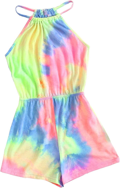 Girls Summer Clothes Tie-dye Bodysuits Jumpsuit One-Piece Kid Summer Outfit Set