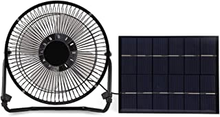 5.2W USB Solar Panel Powered Mini Portable Fan for Cooling Ventilation Outdoor Home Travelling Chicken HouseCar Ventilati...