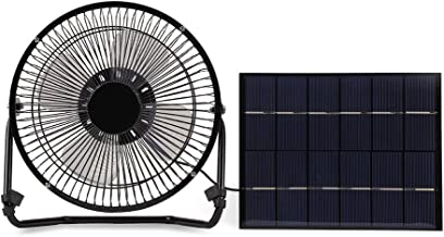 5.2W USB Solar Panel Powered Mini Portable Fan for Cooling Ventilation Outdoor Home Travelling Chicken HouseCar Ventilation System 8 Inch