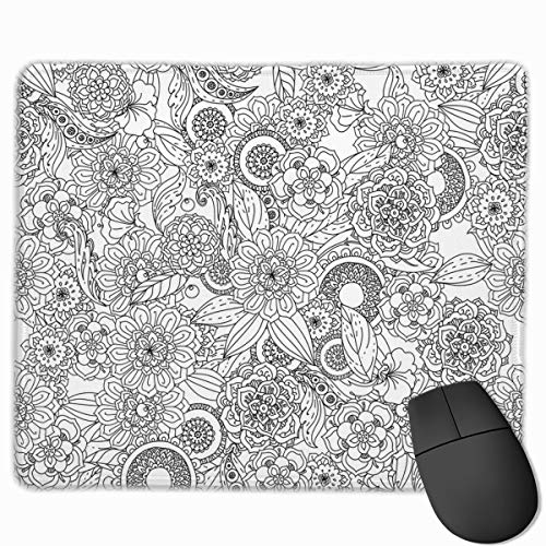 Flowers and Butterflies Mouse pad Custom Rectangular Non-Slip Rubber Mouse pad Gaming Mouse pad