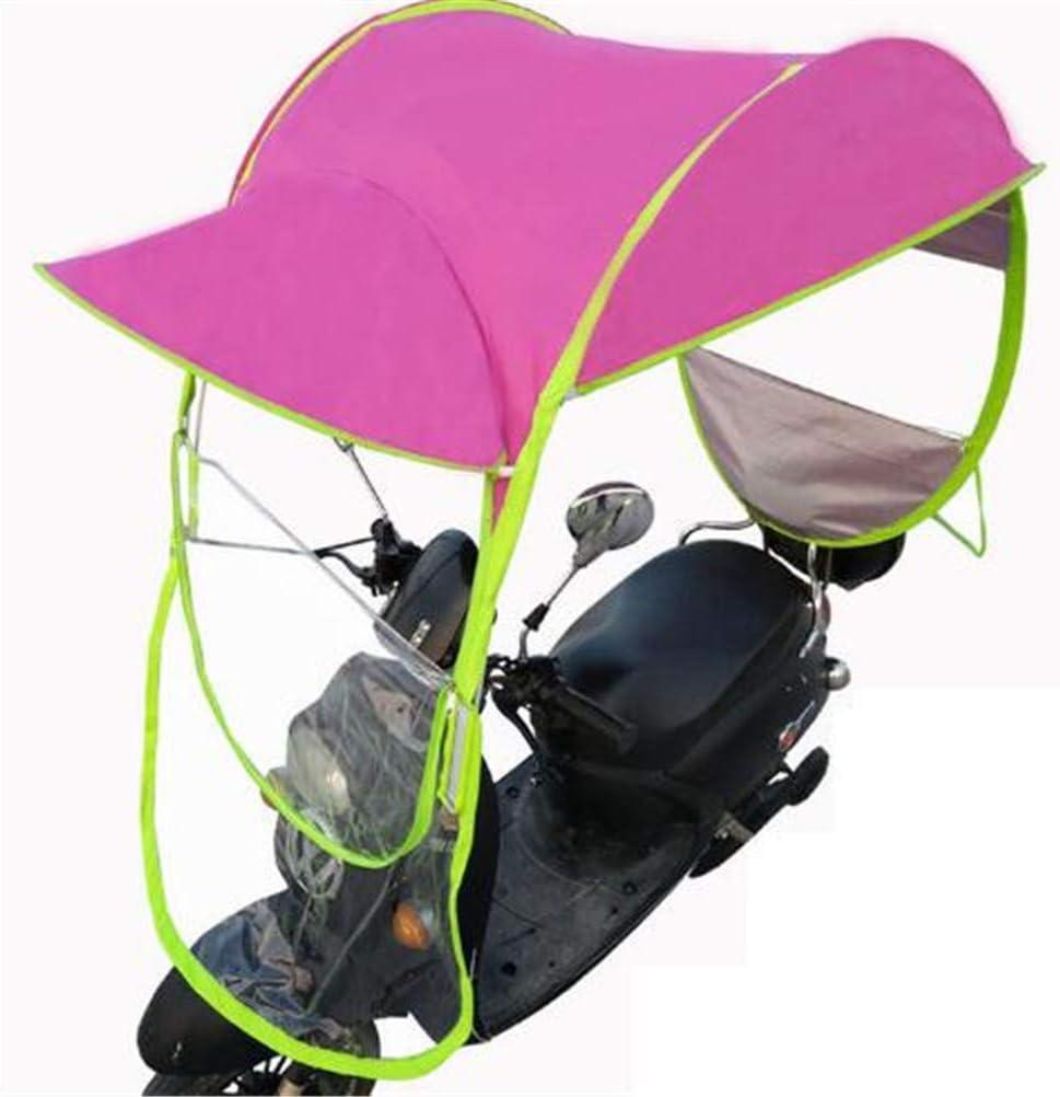 BCLGCF Cubierta De Lluvia para Motocicleta, Universal Car Motor Scooter Umbrella Mobility Sun Waterproof Umbrella, Cycling Bike Sun Shade Rain Cover, Paraguas Impermeable,Rosado