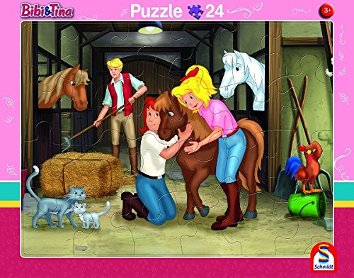 2er-Set Rahmenpuzzle Bibi und Tina 24 + 40 Teile