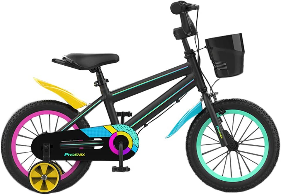 PHOENIX Kids Bike for Boys Girls 14 16 18 20 inch Bicycle with Training Wheels 20 inch with Kickstand and Basket for Ages 3-12 Toddler Youth : Sports & Outdoors