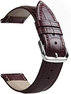 Genuine Leather Black Brown Strap for Samsung Gear S3 Band Frontier Strap for Gear S3 Classic Watchband 22mm Watch Bracelet,Brown,22mm