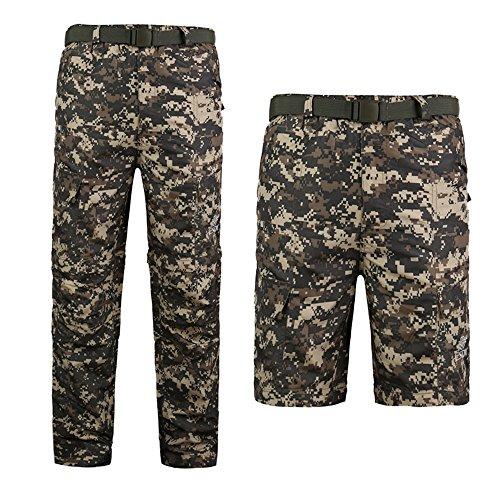 Noga Multi-fonction Plein/Short pantalon Camo Pantalon Amy Vêtements d'Été Slim Tactique SWAT Pantalon (acu camo, L)