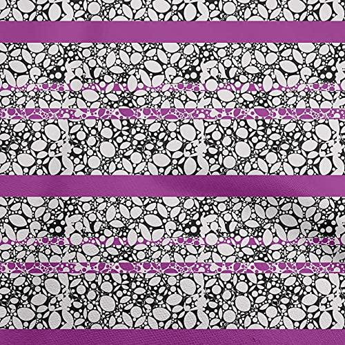 oneOone Punto De Viscosa Púrpura Tela Cuadra Tela Para Coser Impreso Arte De La Tela Por El Metro 60 Pulgada De Ancho