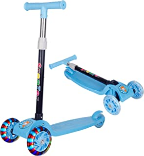 Beauenty Folding 3 Wheel Scooter for Kids,Toddler Scooter with LED Light Up Wheels, Adjustable Height & Best Giftsfor Kid...
