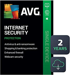 AVG Internet Security 2020 | Antivirus Protection Software | 1 PC, 2 Years [Download]