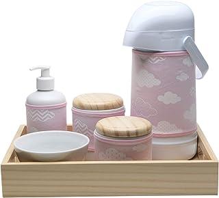 Kit Higiene Moderno Nuvem, Potinho de Mel, Rosa