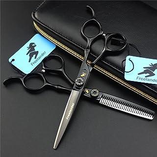 Professionele 6,0 inch Black Paint Hair Stylist Barber Scissors Set Kappers Salon Dunning Shears Upscale 440C Stalen scher...