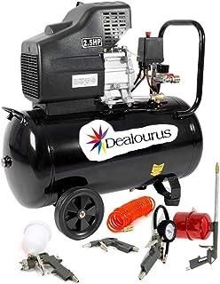 Dealourus - Compresor de aire portátil de 50 litros, 9,6