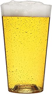 The Perfect Pint, Premium Unbreakable Dishwasher Safe BPA-Free Beer Glasses, Made in the USA, with Aeration Tabs (Pack of 6) (20 oz)