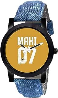 GENZ Graphic Dhoni MAHI Cricket Yellow Dial (Analog Watch) Men's Wrist Watch M425SB09
