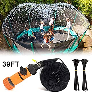 XIAOCAI Trampoline Sprinkler,Backyard WaterPark Accessories Trampoline Spray Sprinkler Fun Hot Summer Outdoor Water Sprinkler Toys Accessory for Boys Girls Kid (39ft)
