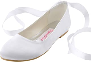 Best white tie up ballet flats Reviews