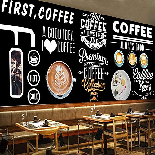 SDzuile Fotomurales Autoadhesivo 3D Murale Pizarra Dibujado A Mano Café 300X210Cm Infantil Niño Niña Hogar Dormitorio Salon Despacho Papel Tapiz Pegatinas De Pared Decorativos Pared Papel Pintado