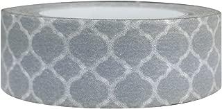 AllyDrew Colorful Patterns Japanese Washi Masking Tape - Grey Marrakech Trellis