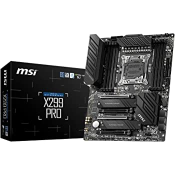 MSI Gaming Intel X299 LGA 2066 Twin Turbo M.2 Gigabit LAN DDR4 USB3.2 Gen 2 SLI CFX Extended ATX Motherboard (X299 PRO)