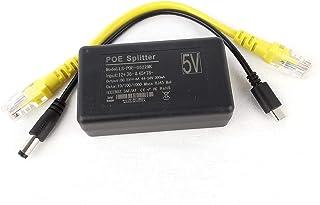 DSLRKIT 5V 3A 4A Gigabit USB Type C Active PoE Splitter for Raspberry Pi 4 4B