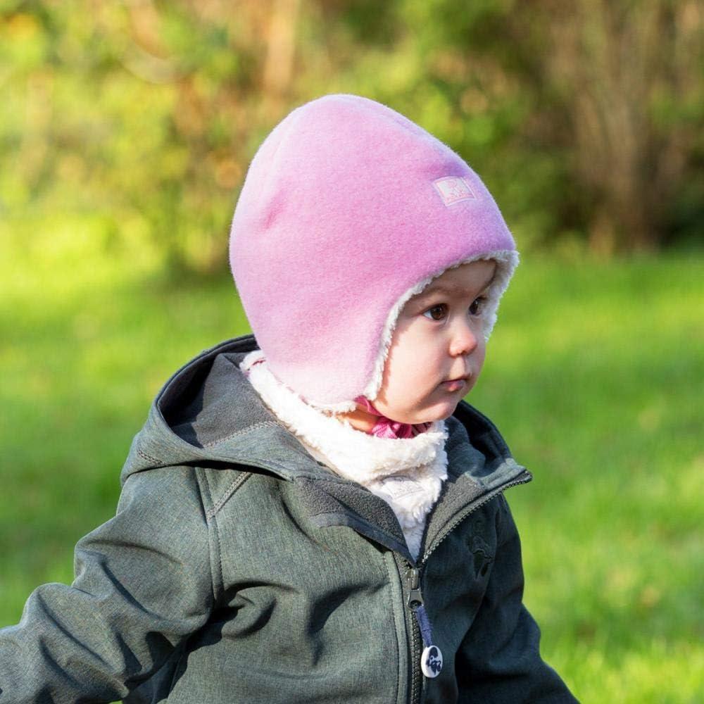 PICKAPOOH Baby//Kinder Winterm/ütze Bio-Wolle//Bio-Baumwolle