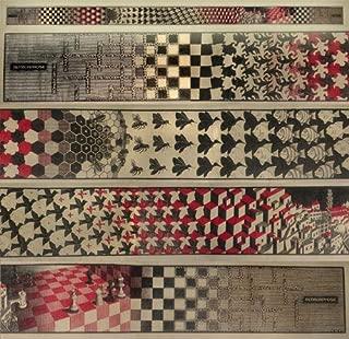 M.C. Escher - Metamorphosis Red (4 Panels) Art Print