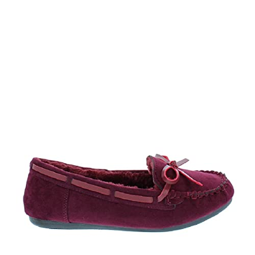 LOV Shoes Womens Faux Suede Fur Moccasin Slipper