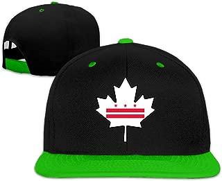 Washington DC Flag Canada Maple Leaf Men's/Women's Contrast Color Baseball Cap Hip Hop Cap Hat