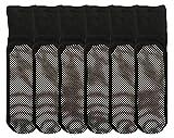 Yacht & Smith Loose Fit Gripper Bottom Diabetic Non-Skid Slipper Black Socks, Grippy Hospital Sock, Wholesale Bulk (WOMENS (9-11), 6)
