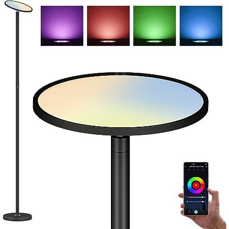 Lampadaire LED Smart 35W Intensité Variable, Bureau Contrôle Tactile et Application, RGBCW 2700K - 6500K, Compatible avec Alexa et Google Home, Pour Salon, Chambre à Coucher