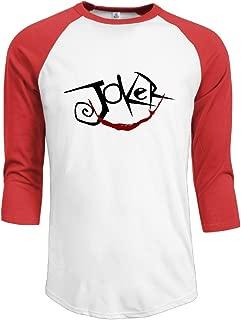 CALZ Men's Joker Logo 3/4 Sleeve Short Sleeve T-shirt