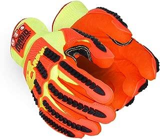 Magid Glove & Safety TRX540W-L T-REX Arctic Series Waterproof Thermal Impact Glove, Cut Level A5, TPR Protection, Hi-Viz Yellow/Orange, Large (1 Pair)