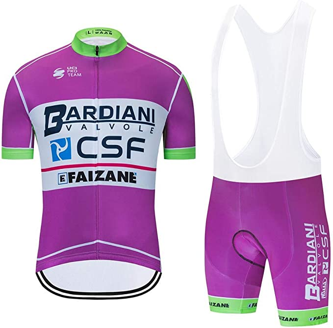 Herren Fahrradtrikot Kurzarm Fahrradbekleidung Cycling Jersey Gel Bib Radlerhose